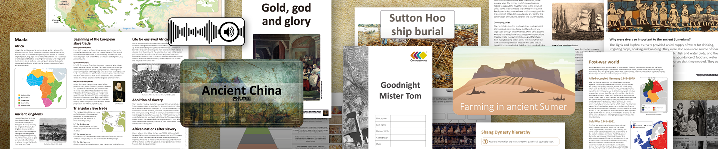A selection of history KRP resources available on Maestro