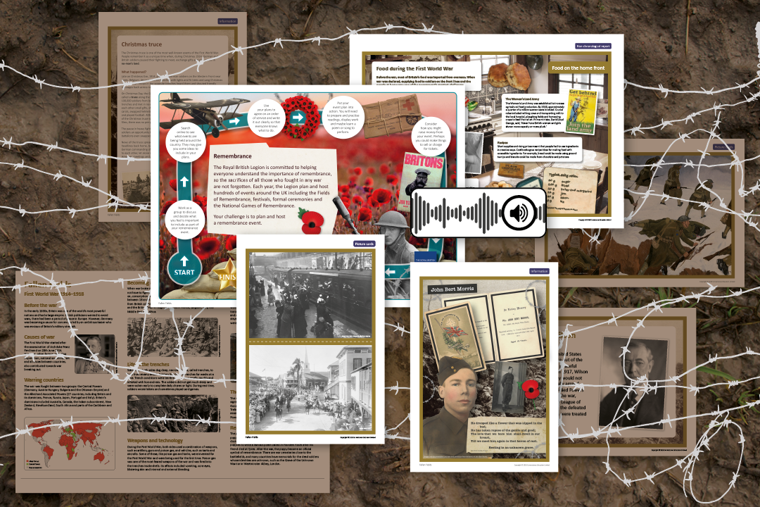 Teach the First World War at primary school with our free KS2 project and resources